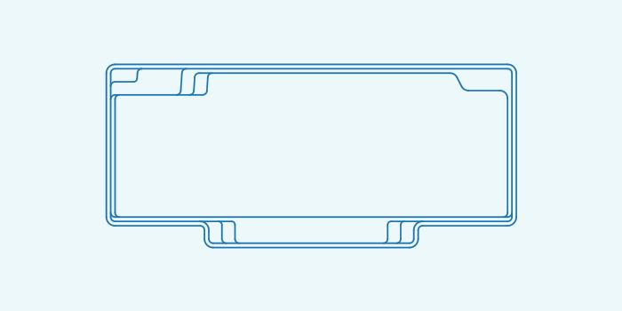 Compass fibreglass pool shape Vogue 9.4