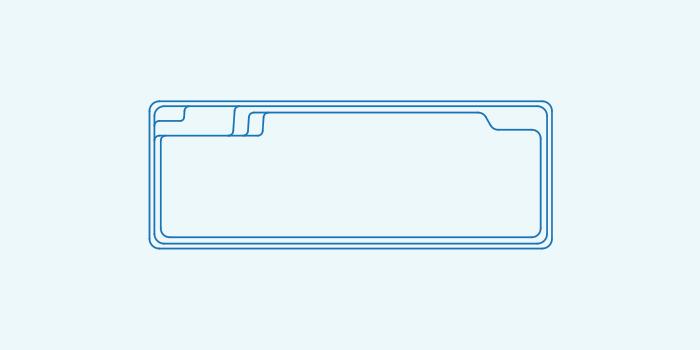 Compass fibreglass pool shape X Trainer 8.2SL