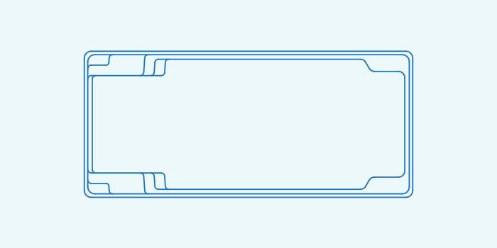 Compass fibreglass pool shape X Trainer 9.4