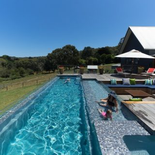 Beautiful Compass Fastlane lap pool built by Compass Pools Melbourne