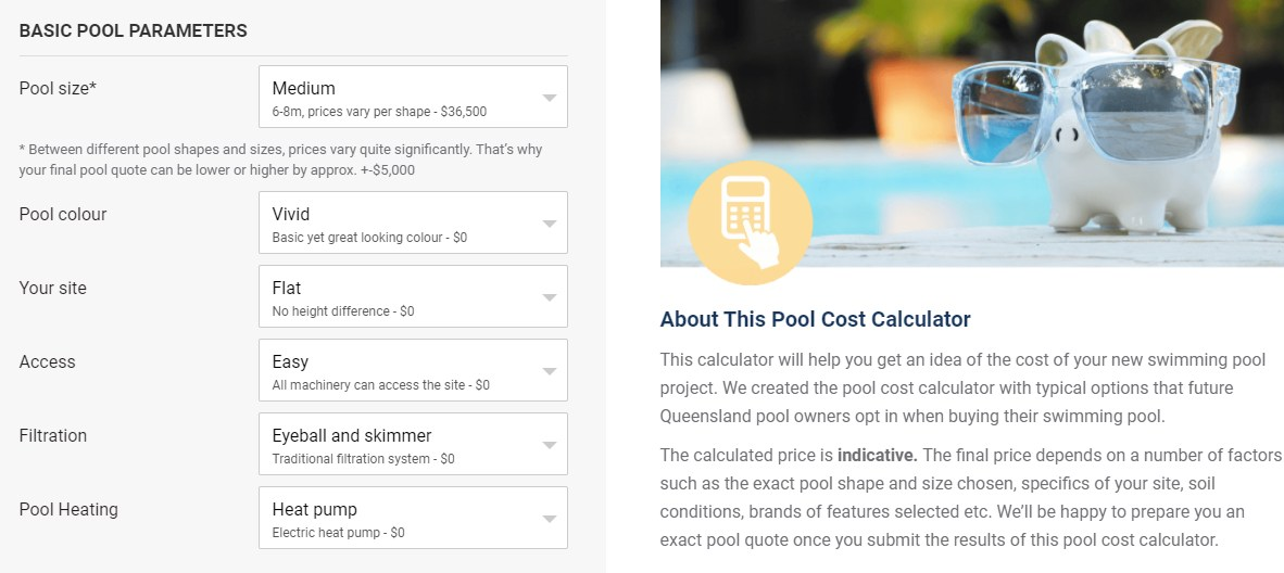 Compare pricing of QLD pool builders